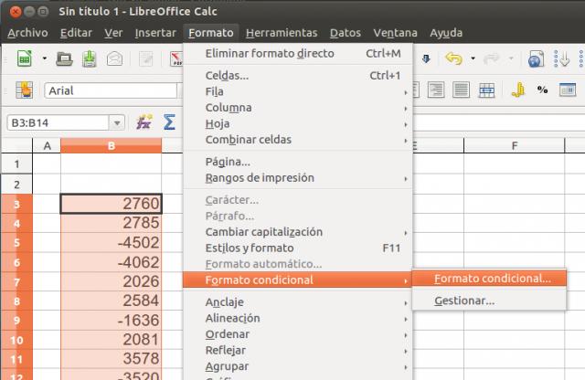 Barras de datos y escalas de color en los formatos condicionales de ...