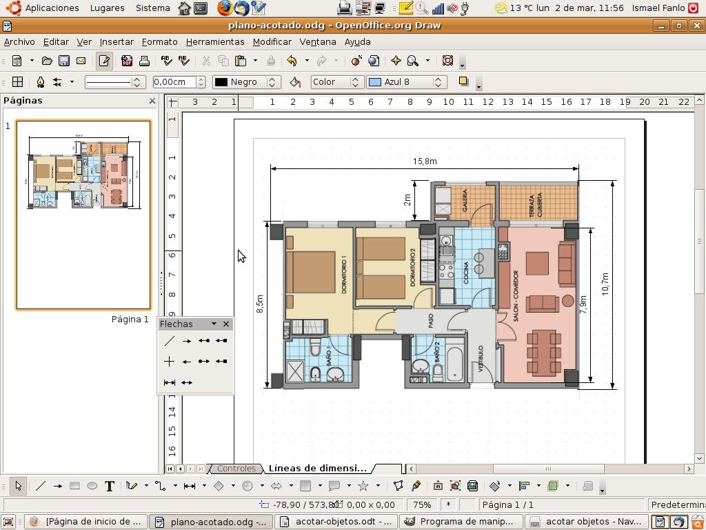Draw el programa de dibujo vectorial de - Programa para planos de viviendas ...