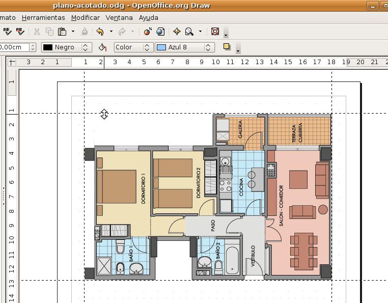 Acotar objetos en draw for Crear planos de casas