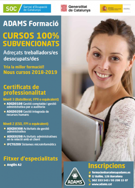 Cartel cursos FOAP Adams 2019
